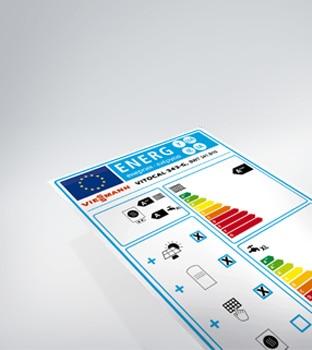 Eticheta de eficacitate pentru încălzire