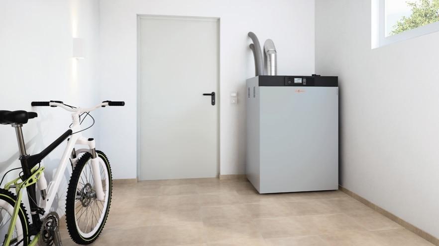 Cazanul pe peleți Vitoligno 300-C, 2,4 - 12 kW