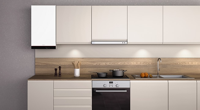 """Vitodens 050-W cu un design atractiv în culoarea """"Vitopearlwhite"""""""